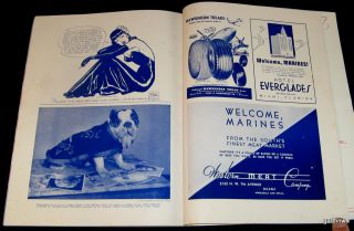 USMC 1947 Marine Corps League Victory Assembly Program Miami Iwo Jima