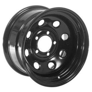 Summit Racing 85 Black Steel 8 Series Wheel 15x8 5x5
