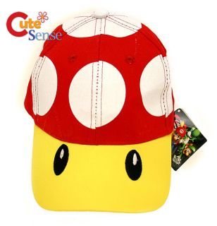 Nintendo Super Mario Red Mushroom Adjustable baseball Cap  Hat