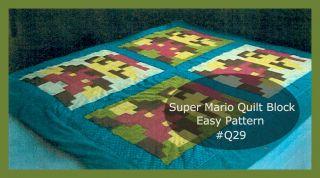 Mario Bros Quilt Pattern 2 Squares Easy Q9