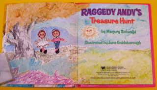 Raggedy Andys Treasure Hunt Vintage Whitman Tell A Tale Ragdoll Andy