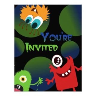 Fun Monsters Birthday Party Invitation Template