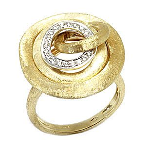 Marco Bicego  Jaipur  Yellow Gold Diamonds Ring AB467 B Size 7