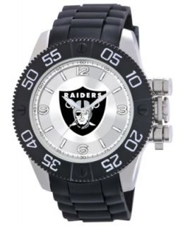 Game Time Watch, Mens Oakland Raiders Black Polyurethane Strap 47mm