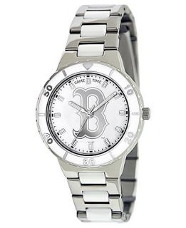 Game Time Watch, Mens Womens Boston Red Sox White Ceramic and