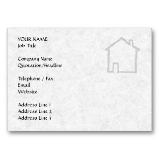 House Sketch. Gray. Business Card Templates