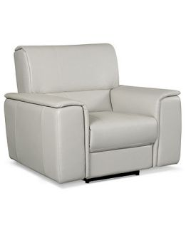 Leather Power Recliner Chair, 45W x 37D x 39H   furniture