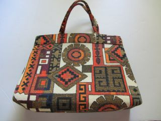 Vintage Margaret Smith Designer Handbag Gardiner Maine Fabric Purse