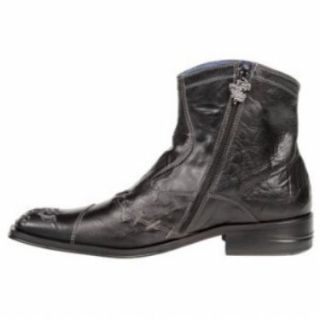 Mark Nason Shaxx Mens Black Leather Boots Sz 10 5