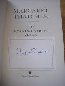 MARGARET THATCHER + THE DOWNING STREET YEARS + SIGNED DELUXE SLIPCASED