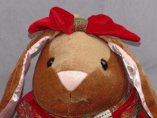 Big Margery Williams The Velveteen Rabbit Storybook Plush Girl Red