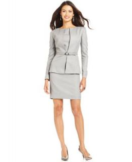 Anne Klein Suit, Metallic Belted Jacket & Sheath Dress
