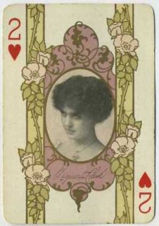 Marguerite Clark Vintage 1908 RARE Single Playing Card Stage Actress