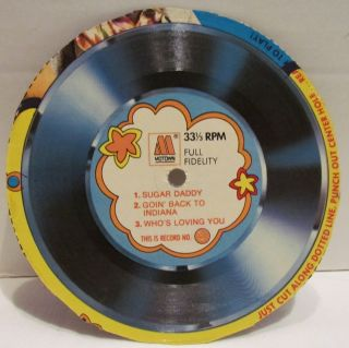 Jackson 5 Cardboard Record Post Cereal Whos Loving You