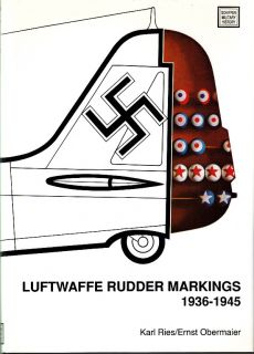 LUFTWAFFE RUDDER MARKINGS 1936 1945   SCHIFFER WW2 GERMAN PHOTO