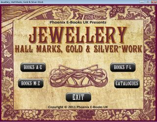 JEWELRY, HALL MARKS Gold & Silver Work 43 Vintage Books Catalogs on CD