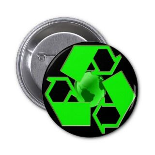 Recycle Earth 2  Save the Earth  Go Green Button