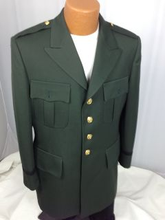 DRESS GREEN JACKET OFFICER US ARMY MARLOW WHITE PREMIUM UNIFORM 43R LN