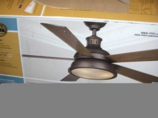 Hampton Bay Marlton 52 in Indoor Liquid Nickel Ceiling Fan 122 165