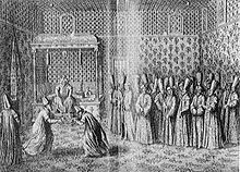 french ambassador marquis de bonnac being received by sultan ahmed iii