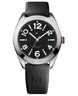 Tommy Hilfiger Watch, Womens Black Silicone Strap 40mm 1781257   All