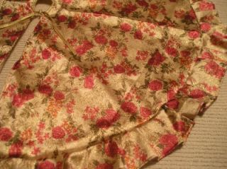 Gold Roses Tree Skirt Martha Stewart Shabby Cottage Chic Christmas