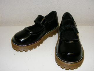 New Dr Doc Martens Black Patent Leather Mary Jane Shoes Girls Youth 9