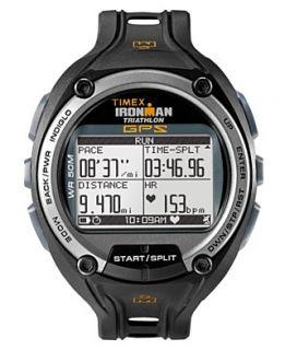 Timex Watch, Mens Iron Man Global Trainer Black Resin Strap T5K267F5