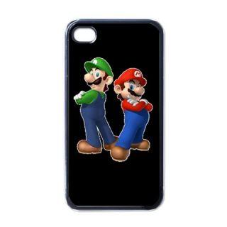 New Super Mario Luigi iPhone 4 Case Black Nice Gift for Your Phone