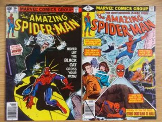 Amazing Spider Man #194 & 195 (1979) 9.4 NM Bronze Age KEY; 1st Black