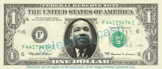Martin Luther King Jr Dollar Bill Mint