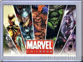 MARVEL UNIVERSE 2011 SET OF 90 CARDS, ARTISTS DRAFT SET (9), MARVEL