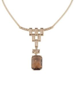 Carolee Necklace, Gold Tone Glass Pearl Cluster Pendant   Fashion