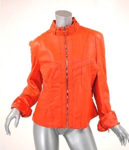 Andrew Mark Orange Red Motorcycle Inspired Jacket EX Condition M L