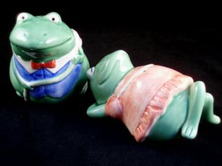 Otagiri Mary Ann Baker Frog Salt Pepper Shaker Set