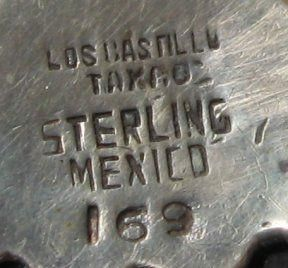 Los Castillo Mexican Sterling Silver Pin 3 1 4 x 2 Signed Numbered