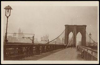 NY New York City Brooklyn Bridge 1910 RPPC