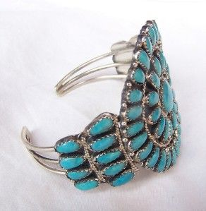 Gorgeous Navajo Larry Moses Begay Sterling Sleeping Beauty Turquoise