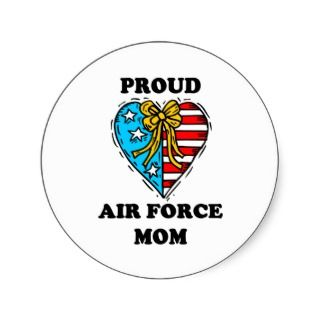 Proud Air Force Mom   Parioic Hear Sickers