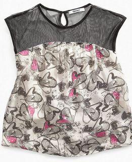 DKNY Kids Shirt, Girls Pop Heart Shirt   Kids Girls 7 16