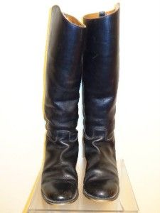 Marlborough Esquestrian Vintage Womens Black Leather Riding Boot Boots