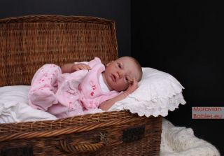 Cute reborn baby girl Klarka; sculpt Celine by Evelina Wosnjuk, NO