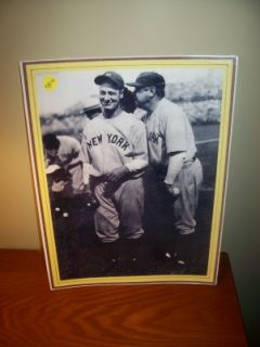 Babe Ruth Lou Gehrig New York YANKEES11 x 14 Laminated Photo