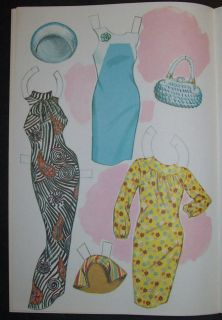 Marlo Thomas That Girl Paper Doll Book Saalfield 1967 Uncut Complete