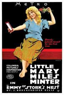 Retro Silent Movie Actress Mary Miles Minter Emmy Of Storks Nest