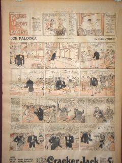 Joe Palooka Apple Mary Fishers History of Boxing Sunday Comic Page