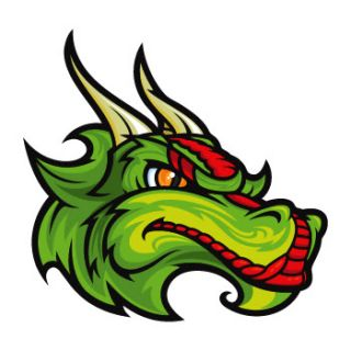 Vinyl Decal Stickers Angry Dragon Head Mascot WRS57