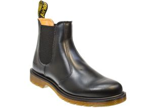 Dr Martens 2976 Smooth Black Unisex Leather Chelsea Ankle Boots