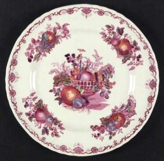 Masons Fruit Basket Red Dinner Plate 337962