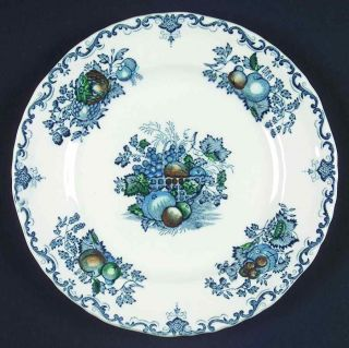 Masons Fruit Basket Blue Multi Bread Plate 50 Off